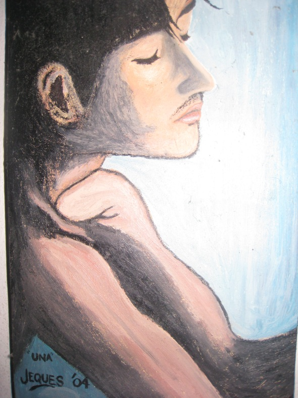 My first attempt with oil on canvas, 2004