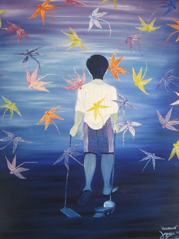 """Childhood"" # 2 oil on canvas 30x40, by Jeques B. Jamora, 2009"