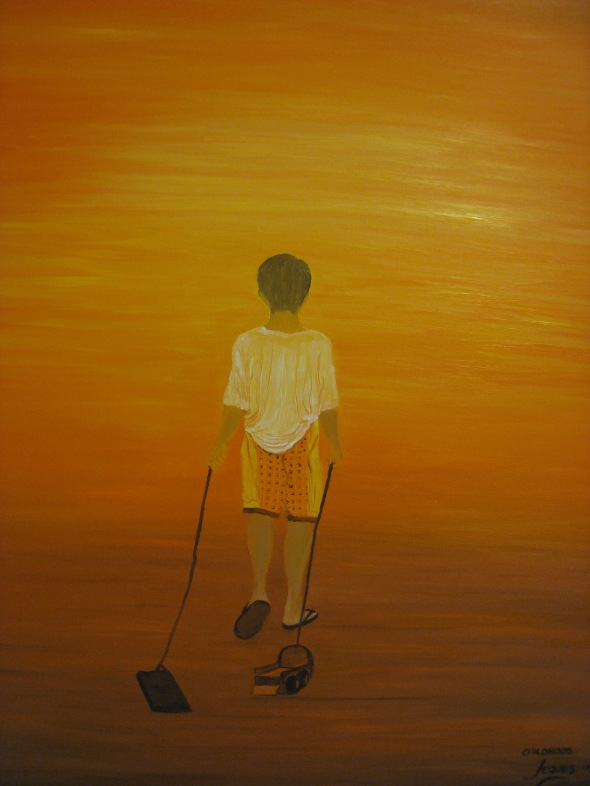 """Childhood"" oil on canvas 24x30, by Jeques B. Jamora, 2009"