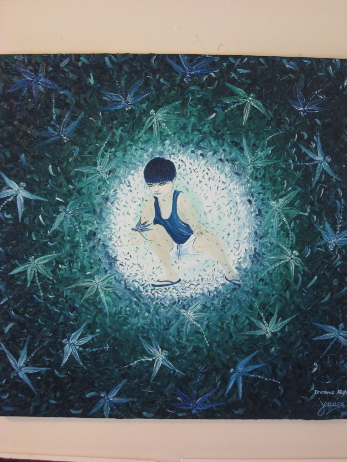 """Dreams Alight"" oil on canvas 36x36, by Jeques B. Jamora, 2009"