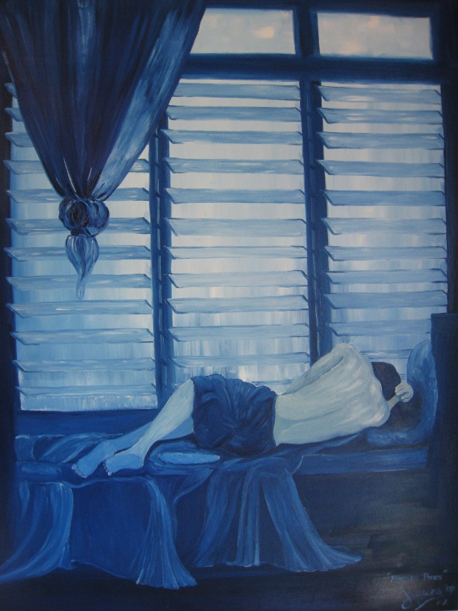 """morning panes"" #2 oil on canvas 30x40, by Jeques B. Jamora, 2009"