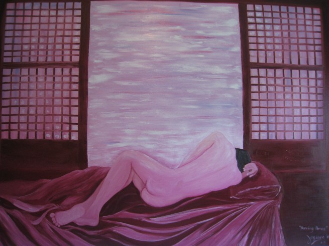"""morning panes"" #3 oil on canvas 38x48, by Jeques B. Jamora"