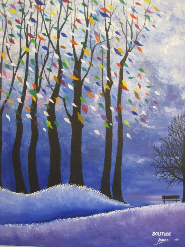 """Solitude"" oil on canvas 24x30, by Jeques B. Jamora, 2007"