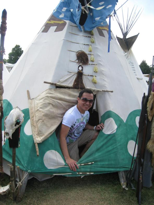 inside tepee camp