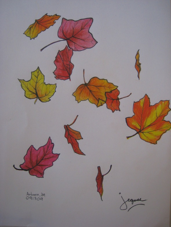"""autumn"" pen and colored pencil on paper by Jeques B. Jamora, 2009"