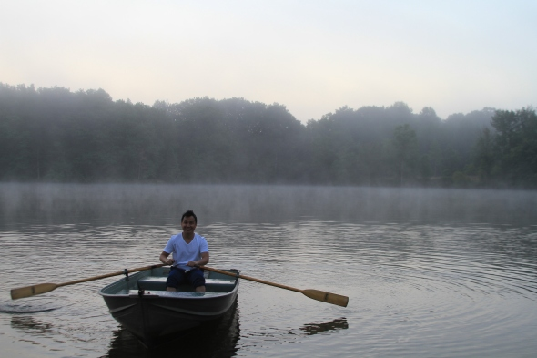 Jeques turns 41: Sailing in the mist at Sans-souci which literally means life without a care.